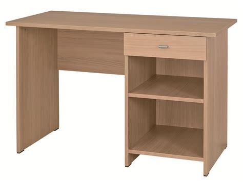 bureau 120x60 table bureau rectangulaire morphea avec caisson ouvert à