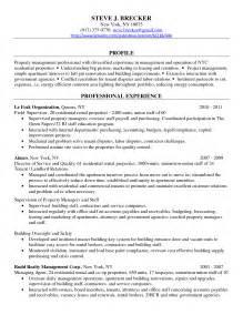 professional resume format sles pdf sle property manager resumes bestsellerbookdb