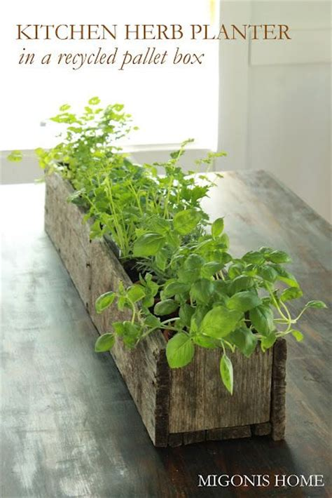 diy pallet flower box gardens planters  herbs garden