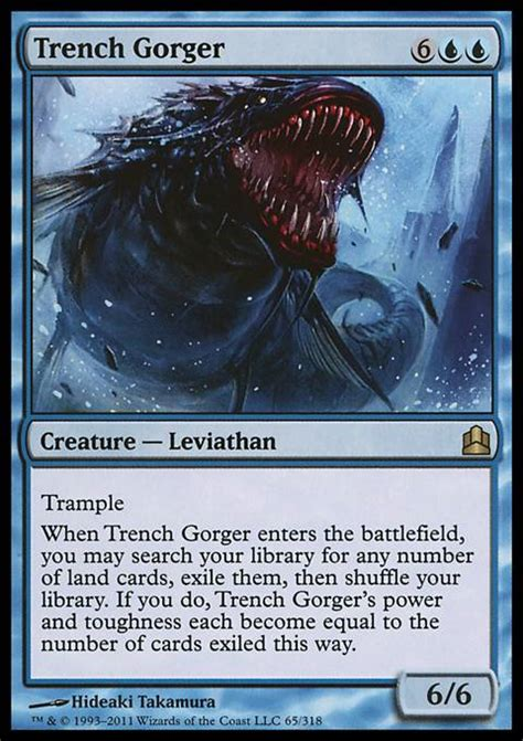 mtg deck win condition trench gorger cmd mtg card