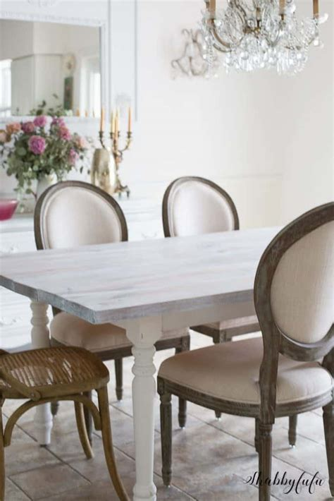 whitewashing  farmhouse table   minutes shabbyfufucom