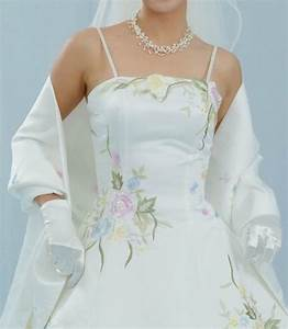 new pastel color embroidered ivory wedding dress bridal With color embroidered wedding dress