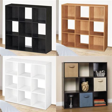 cube shelf unit 9 cube wooden bookcase shelving display shelves storage