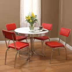 Furniture Kitchen Set Shop Tms Furniture Retro 5 Dining Set With Dining Table At Lowes