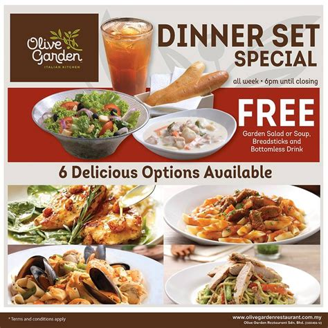 olive garden special olive garden dinner set special promotion loopme malaysia