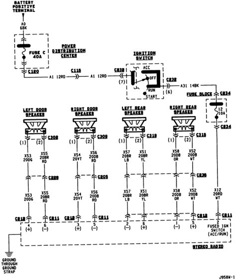 Need Color Codes For Wiring Speaker System From Stereo