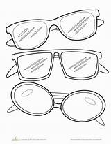 Sunglasses Coloring Template Worksheets Kindergarten Glasses Pages Printable Education Worksheet Outline Clipart Colors Summer Sunglass Clip Sheets Drawing Colorful Frames sketch template