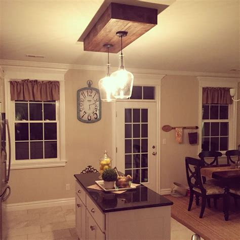 kitchen light box replaced the fluorescent lighting kitchen island 2141