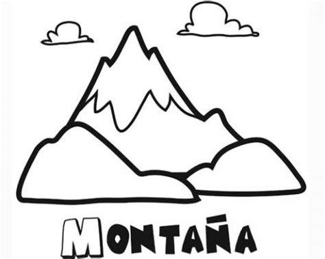 Imprimir: Dibujo de una montaña para pintar Dibujos de la