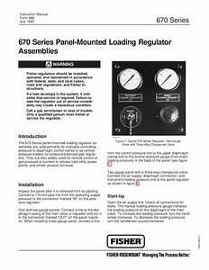 670 Panel Mount Regulator Instruction Manual By Rmc