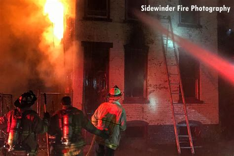 firefighters respond   alarm troy ny fire fire
