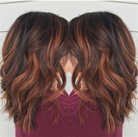 red brown balayage  rebecca  avante salon  spa