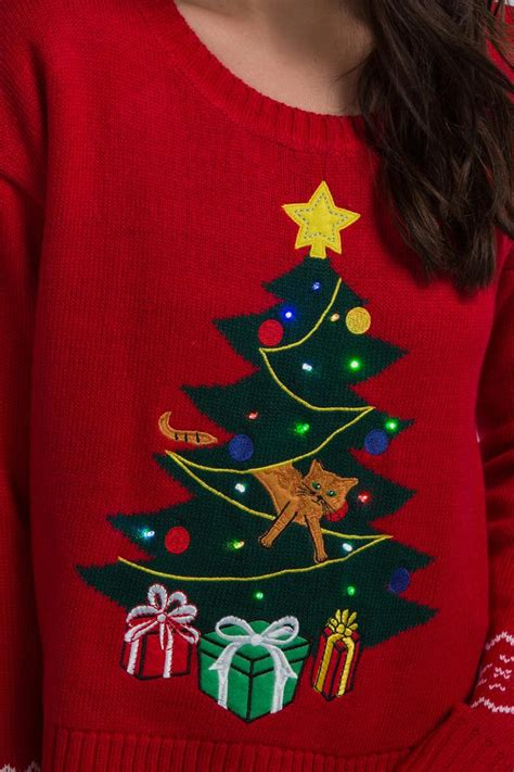 christmas tree light up sweater francesca s