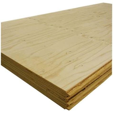 t g sheathing plywood common 5 8 in x 4 ft x 8 ft