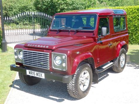 red land rover used montalcino red land rover defender for sale essex