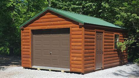 log sided garages pennsylvania maryland  west virginia
