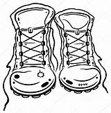 Boots Hiking Coloring Clipart Shoes Boot Pages Clip Drawing Mountain Vector Shoe Clipground Template Illustration Climbers Coloringbay Royalty Depositphotos Clipartmag sketch template