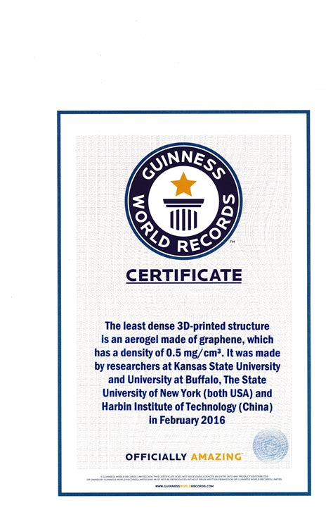 Guinness World Record Certificate Template by Guinness World Record Certificate Template Image