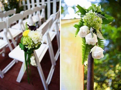 Green & White California Wedding