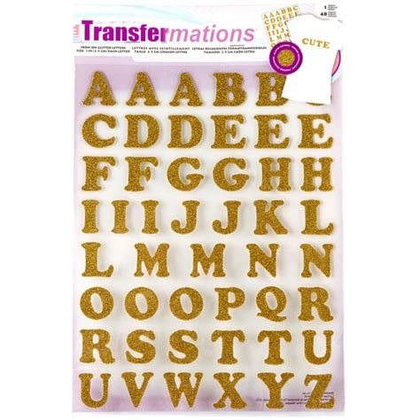 transfermations iron  letters glitter