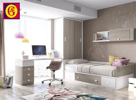 habitacion juvenil  cama nido  compacta composicion