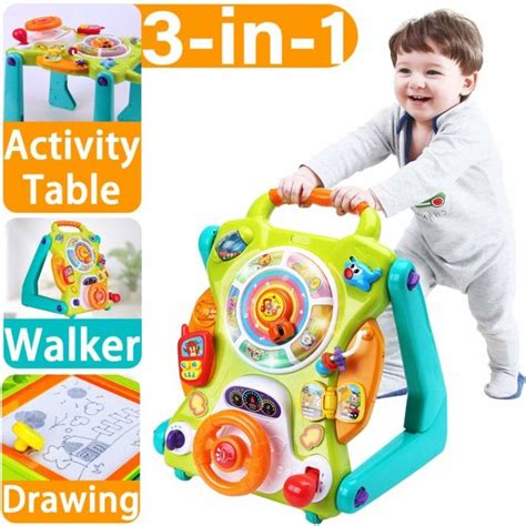 toys stand sit activity iplay center ilearn toddlers walkers walker push learning gift year table fun toddler lights musical olds