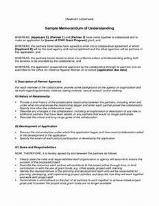 sample memorandum of understanding free download With free sample memorandum of understanding template