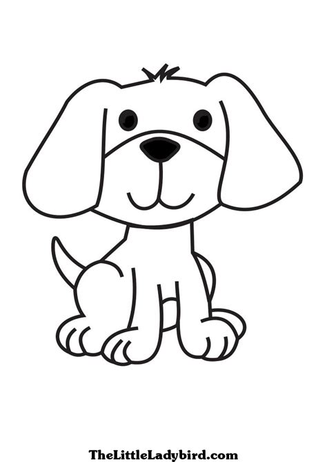 coloring page of a puppy pages the little ladybird cute