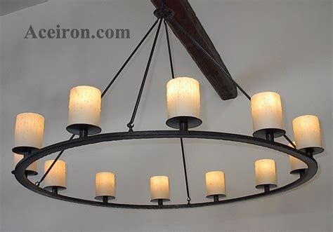 pillar candle chandelier ace wrought iron custom katonah pillar chandelier by