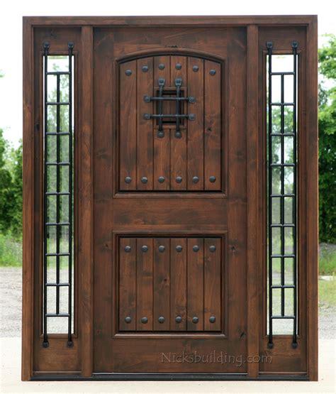 popular exterior rustic doors   sidelights