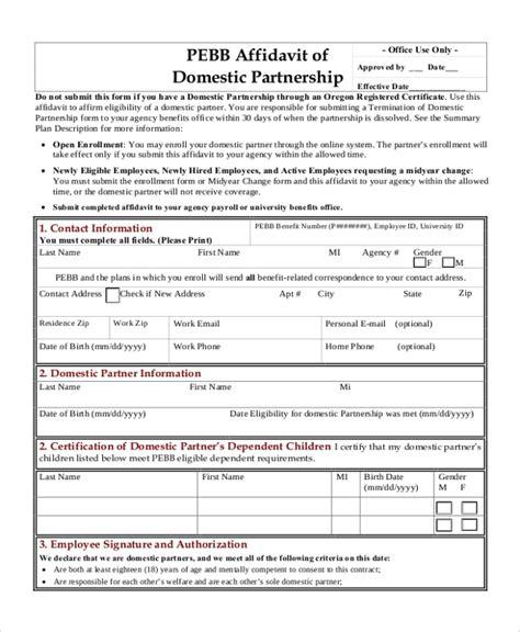 sample affidavit  ms word