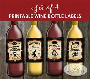 halloween labels for wine bottles With how to print wine bottle labels