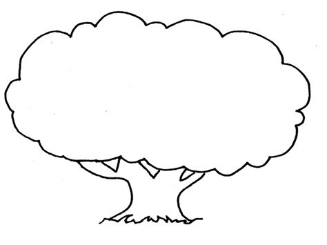 tree template black and white tree template printable clipart best