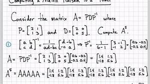 Linear Algebra Example Problems - Computing a Matrix to a ...