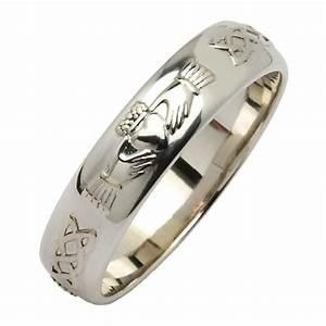 claddagh celtic knot silver wedding band claddagh With celtic silver wedding rings