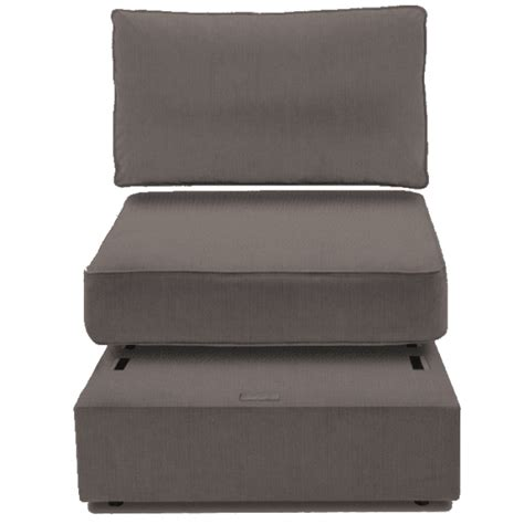 Lovesac Ottoman by Lovesac 5 Series Ottoman With Optional Walnut You Table