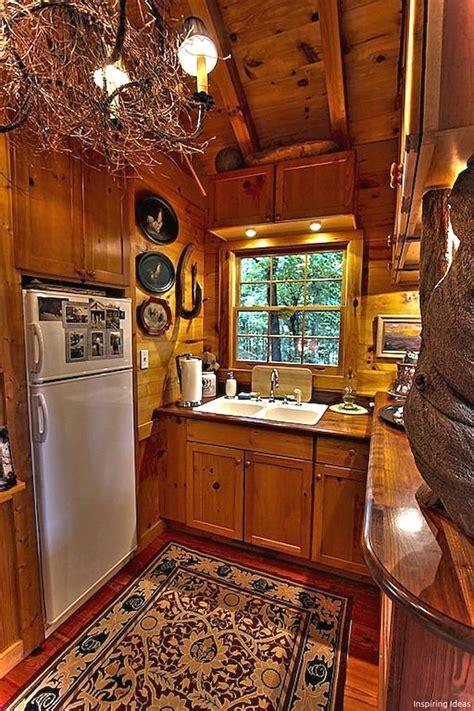 Gorgeous 45 Gorgeous Cottage Kitchen Small Log Cabin Ideas ...