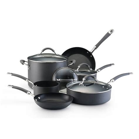 shop kitchenaid hard anodized  pc nonstick cookware set  shipping today overstock