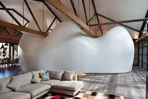 Sculptural Pod Transforms A Warehouse Into A Unique Home