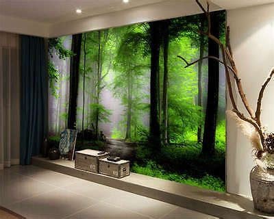 details  dream mysterious forest full wall mural
