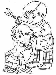 Friseur Ausmalbilder Fr Kinder