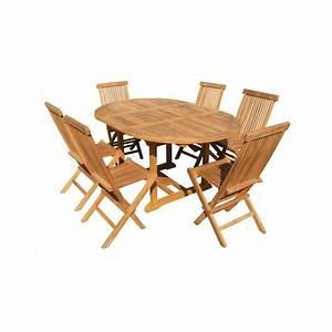 Salon De Jardin En Teck En Promotion : salon de jardin table ronde en teck 6 chaises teck en promotion ~ Teatrodelosmanantiales.com Idées de Décoration