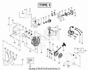 Poulan Featherlite Le Type 1 Parts Diagram For Engine