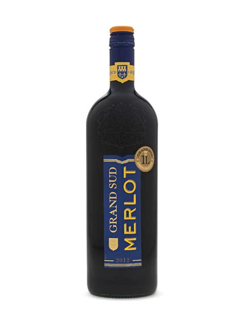 grand chais de grand sud merlot 1000 ml bottle les grands chais de