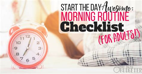 start  day awesome morning routine checklist