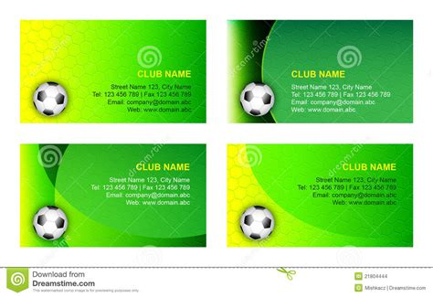soccer business card template stock vector image