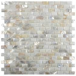 cream brick mother of pearl shell tile sample swatch