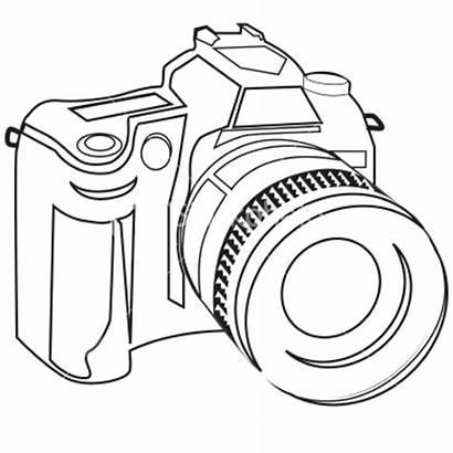 Digital Camera Dslr Sketch Slr Vector Clip