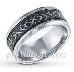mens black titanium wedding bands black silver tribal design tungsten celtic mens wedding