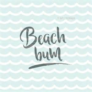 Beach Bum SVG Cut Files Cricut